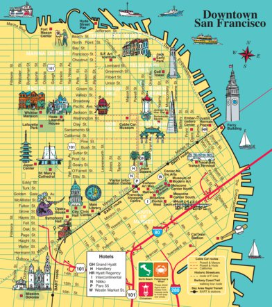 San Francisco Map Tourist.Downtown San Francisco Tourist Map Avenza Systems Inc Avenza Maps