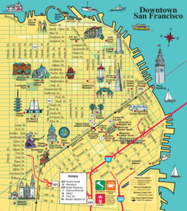 Get Maps – San Francisco Tourist Map Pdf