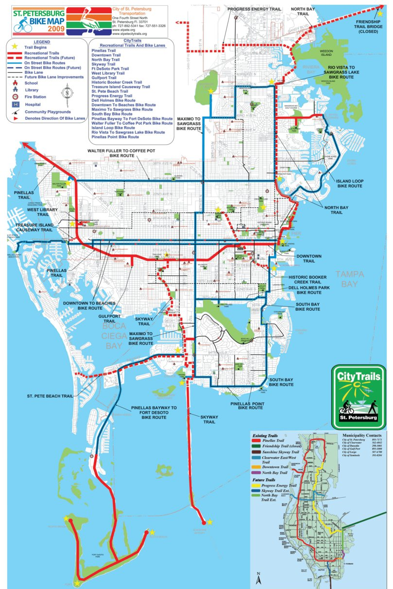 St Petersburg FL Cycling Routes Avenza Systems Inc Avenza Maps