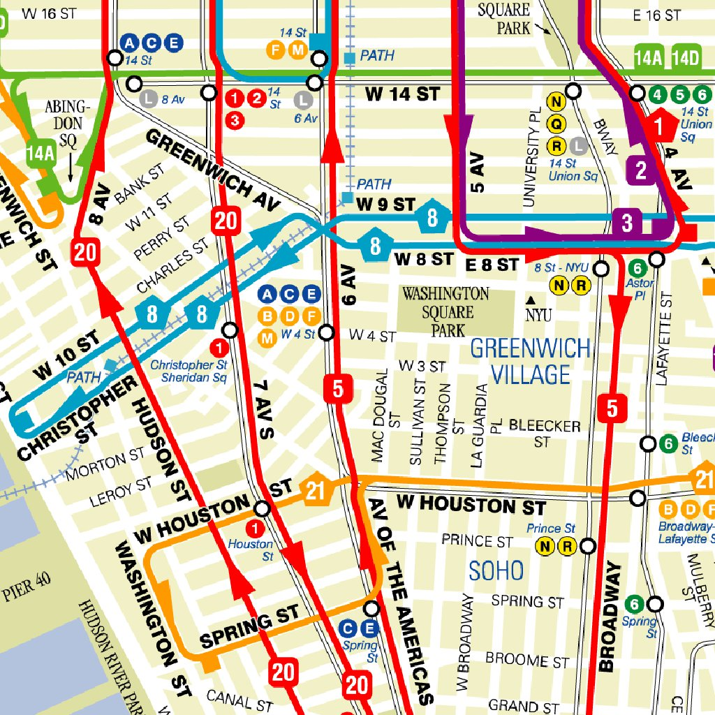 MTA Manhattan Bus Map Avenza Systems Inc Avenza Maps