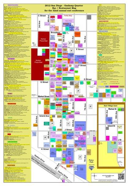 San Diego Gaslamp Map 2012 Avenza Systems Inc Avenza Maps