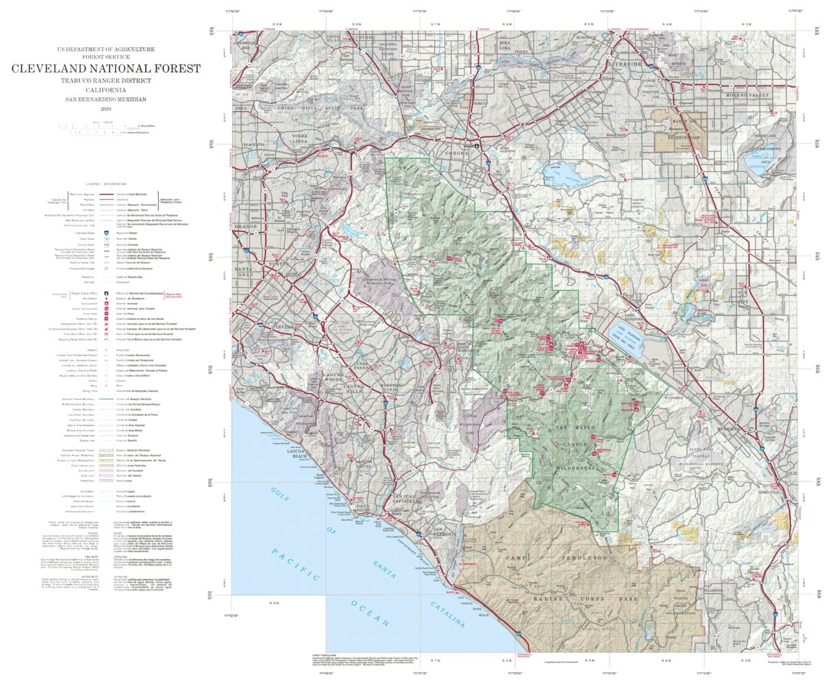 Cleveland National Forest Visitor Map - North (2010) - US Forest ...