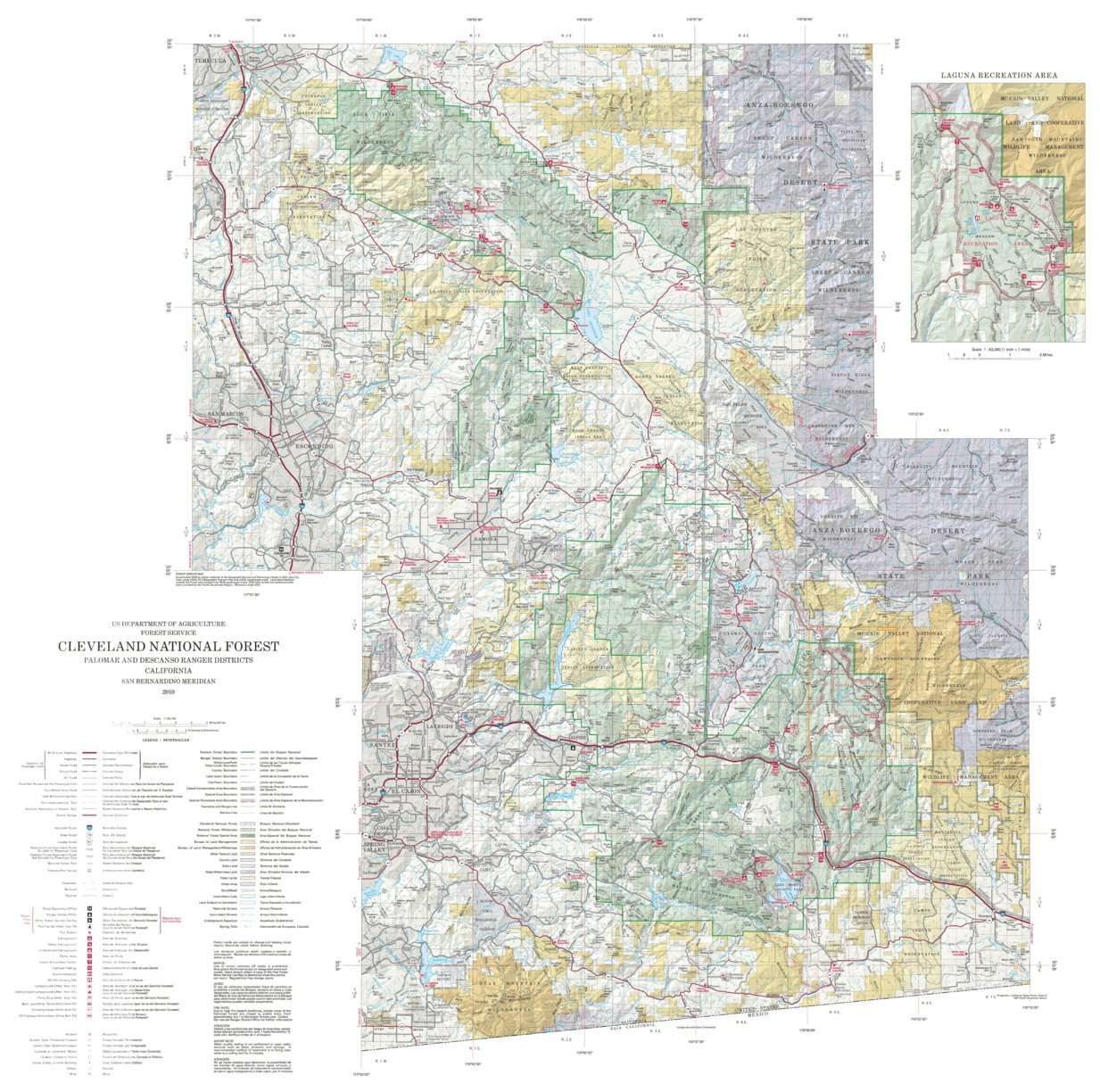 Cleveland National Forest Visitor Map - South (2010) - US Forest ...