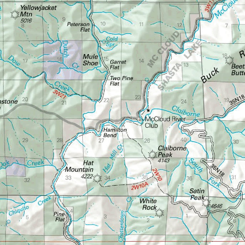 Shasta-Trinity National Forest Visitor Map (East) - US Forest ...