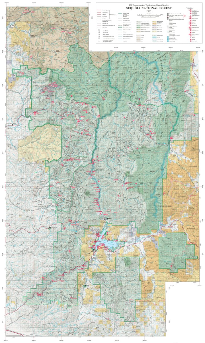 Sequoia National Forest Visitor Map (South) - US Forest Service R5 ...