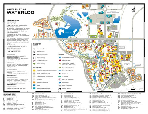 U Waterloo Campus Map.University Of Waterloo Campus Map Avenza Systems Inc Avenza Maps