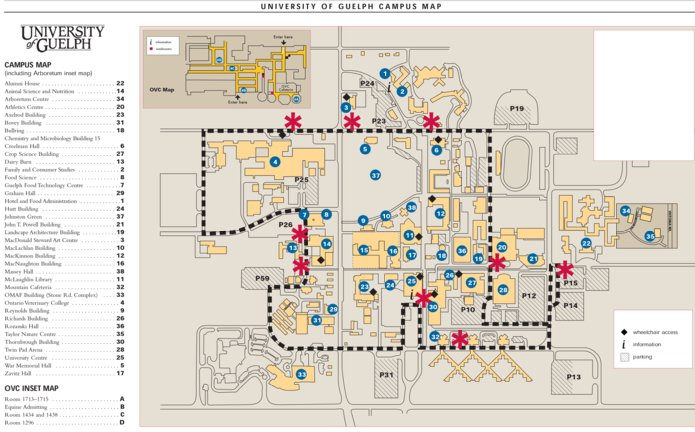 Guelph Campus Map University of Guelph Campus Map   Avenza Systems Inc.   Avenza Maps