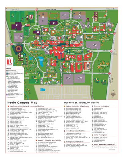 map of york university campus York University Campus Map Avenza Systems Inc Avenza Maps map of york university campus