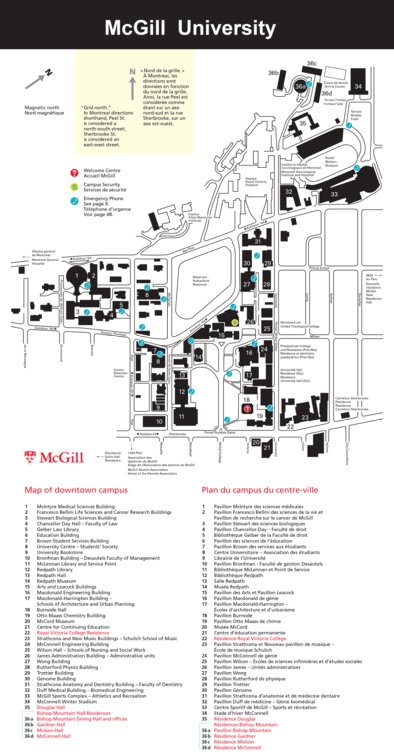 McGill University Campus Map - Avenza Systems Inc. - Avenza Maps on