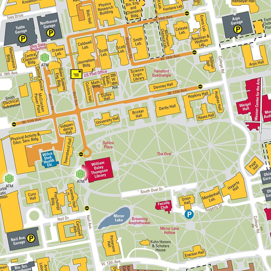Osu Campus Map map of st augustine kyle field map