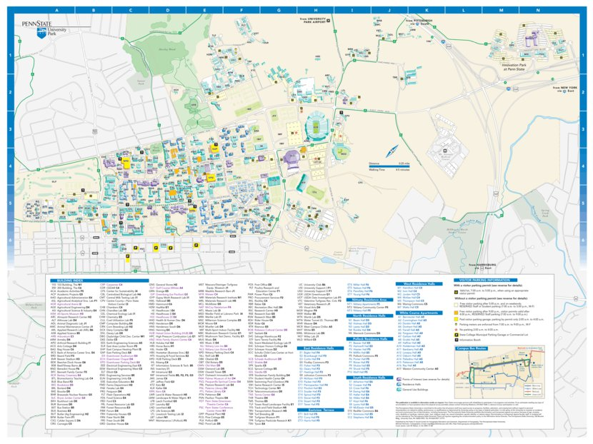 Penn State University Campus Map - Avenza Systems Inc ...