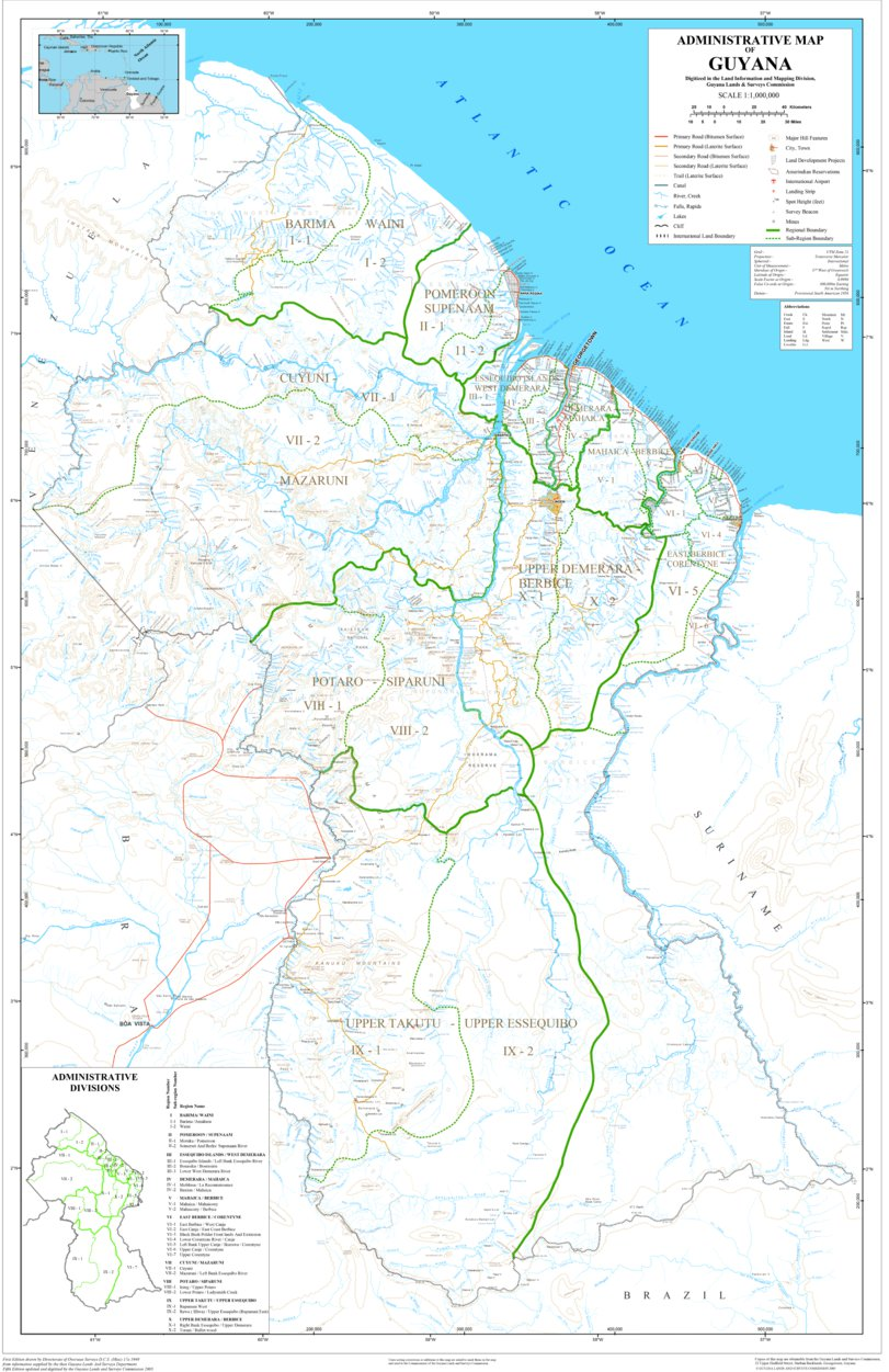 Administrative Map Of Guyana - Avenza Systems Inc. - Avenza Maps