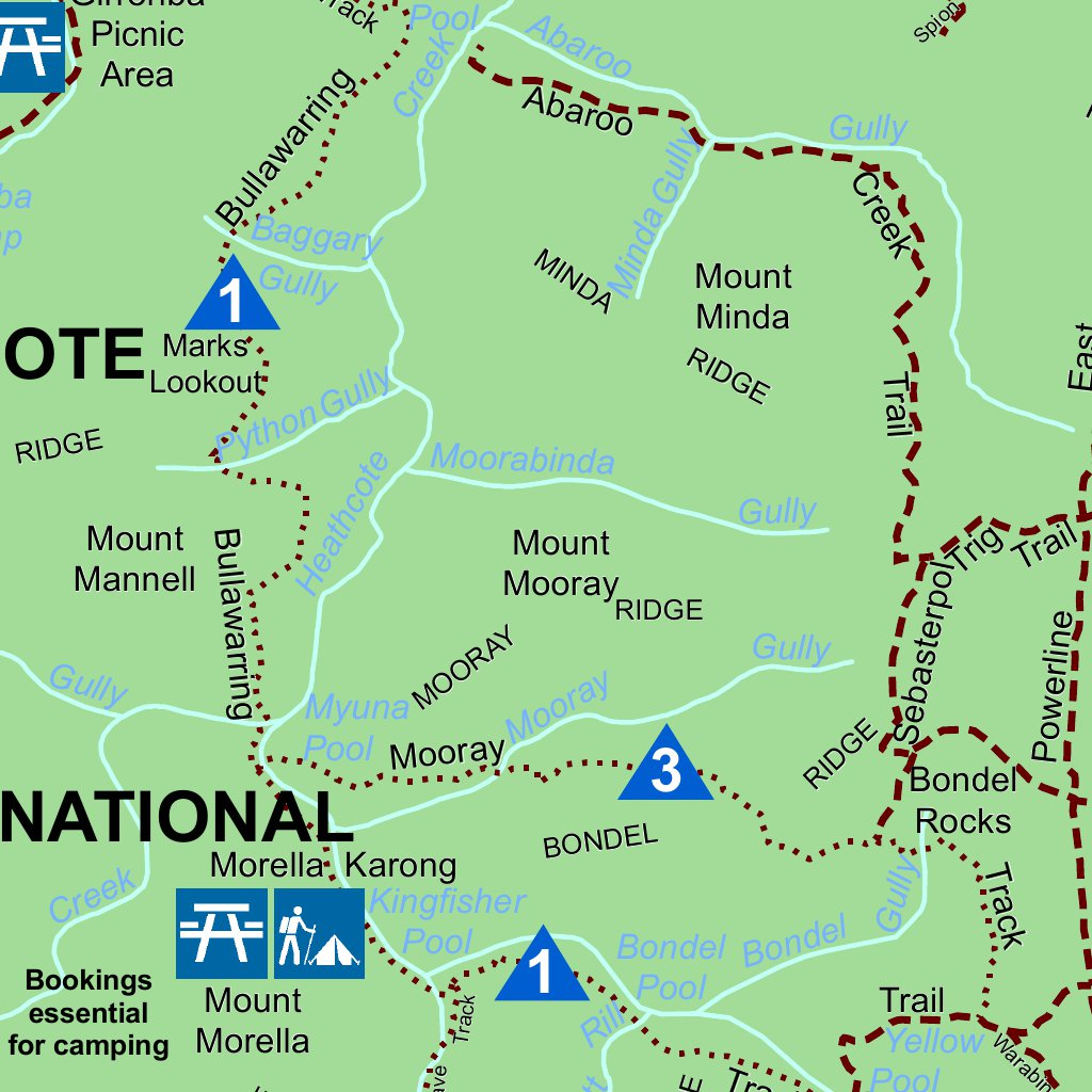 Royal National Park Map Royal National Park Visitor Guide   NSW National Parks & Wildlife