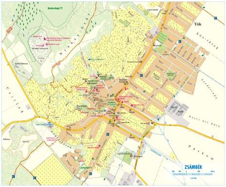 Zsambek City Map Varosterkep Szarvas Andras Private