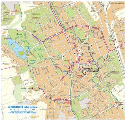 szombathely térkép Szombathely city map, várostérkép   Szarvas András private