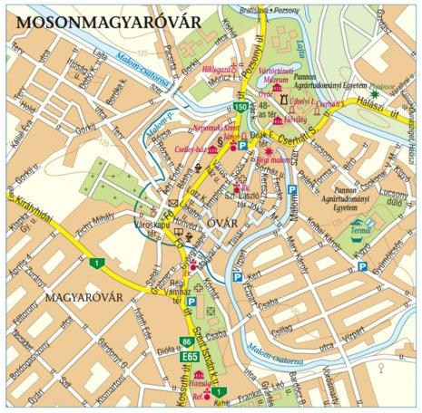 mosonmagyaróvár térkép Mosonmagyaróvár city map, várostérkép   Szarvas András private