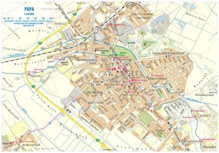 pápa térkép Pápa city map, várostérkép   Szarvas András private entrepreneur