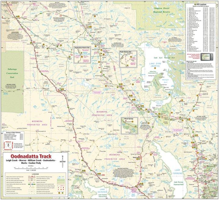 Oodnadatta Track Map Oodnadatta Track   Westprint Heritage Maps   Avenza Maps