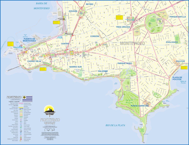 Image of: Montevideo Uruguay Itmb Itmb Publishing Ltd Avenza Maps