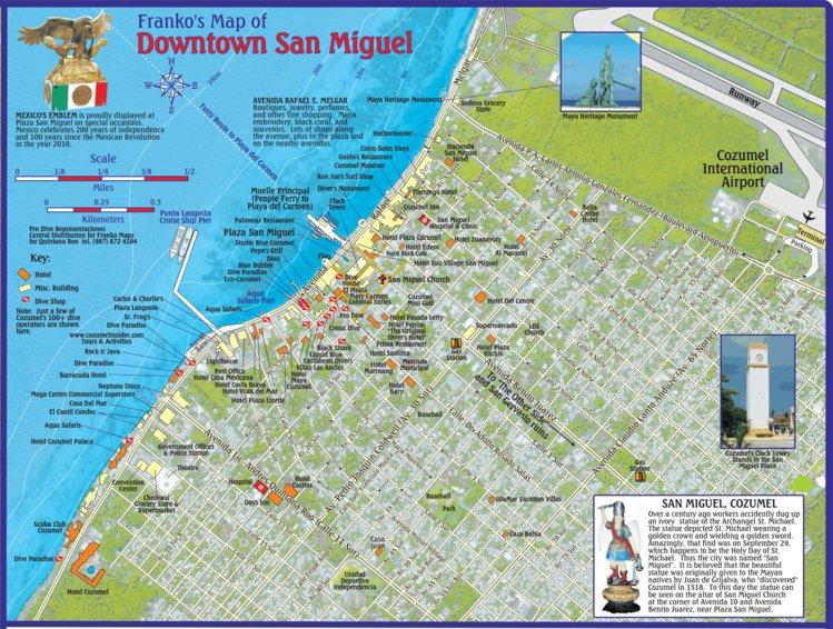 Downtown San Miguel Cozumel Mexico Franko Maps Ltd Avenza Maps