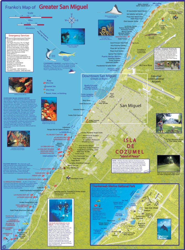 Greater San Miguel Cozumel Mexico Franko Maps Ltd Avenza Maps