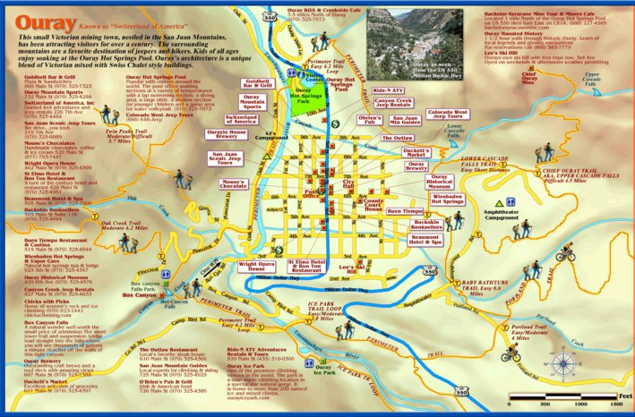 Ouray Colorado Town Map - Franko Maps Ltd. - Avenza Maps