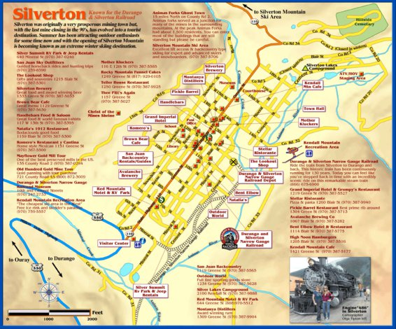 Silverton Colorado Town Map Franko Maps Ltd Avenza Maps