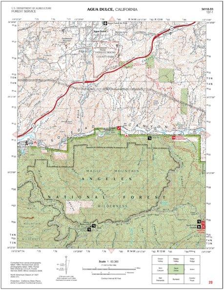 Agua Dulce California Map.Agua Dulce Us Forest Service R5 Avenza Maps
