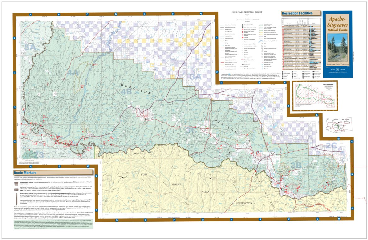 Sitgreaves National Forest Visitor Map - US Forest Service ...
