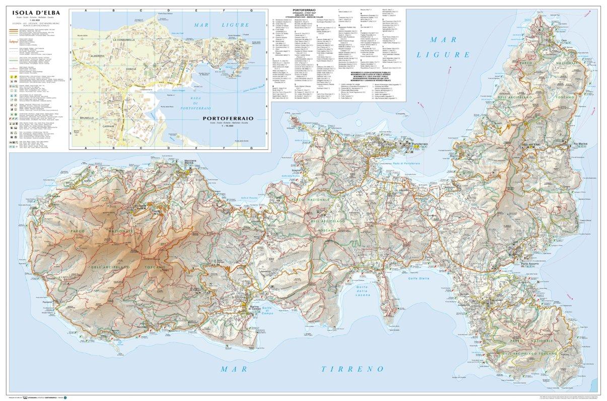 Elba Island - Hiking trails and tourist map - Litografia ...