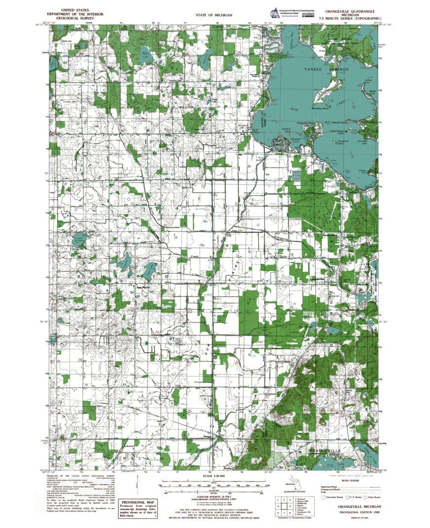 MIOrangeville Authoritative US Topo 1979 Western Michigan