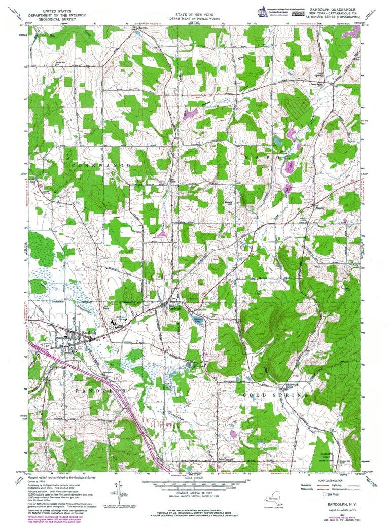 NY-Randolph: Authoritative US Topos 1962 - Western Michigan ...
