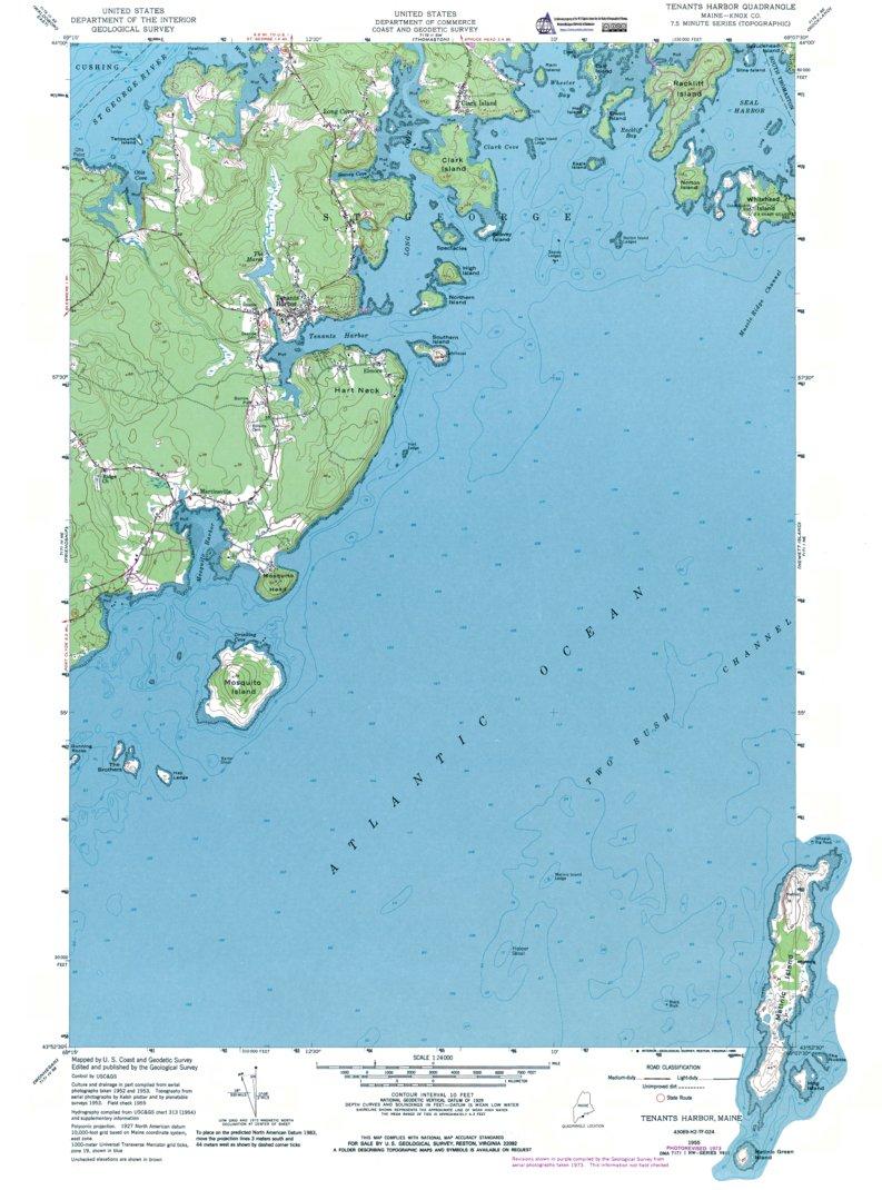 Tenants Harbor Maine Map.Me Tenants Harbor Authoritative Us Topos 1955 Western Michigan