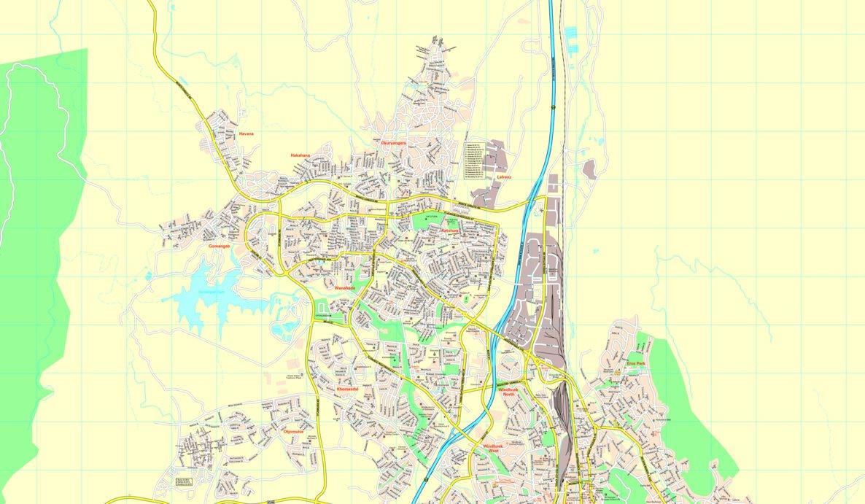 Windhoek StreetMap North MapStudio Avenza Maps