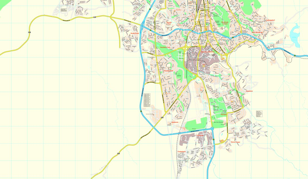 Windhoek StreetMap South MapStudio Avenza Maps