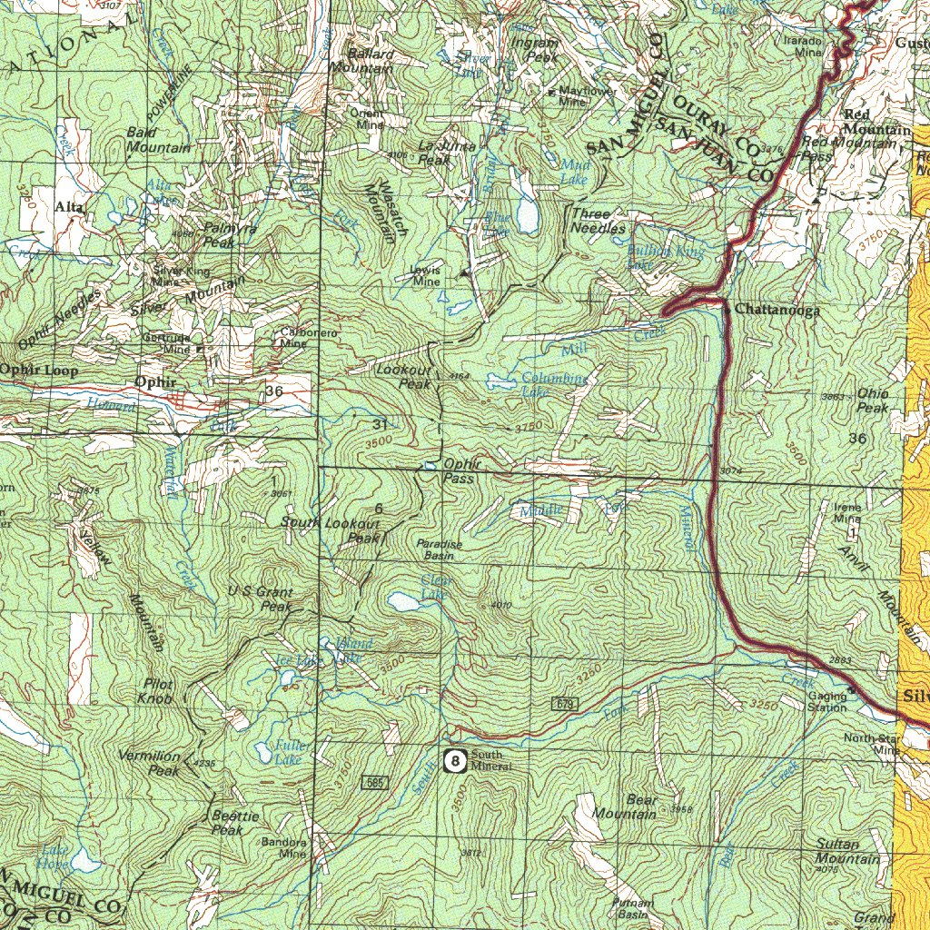 Silverton Co Blm Surface Mgmt Digital Data Services Inc