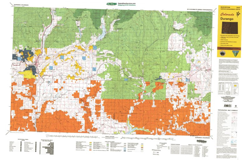 Durango, CO - BLM Surface Mgmt. - Digital Data Services, Inc ... on