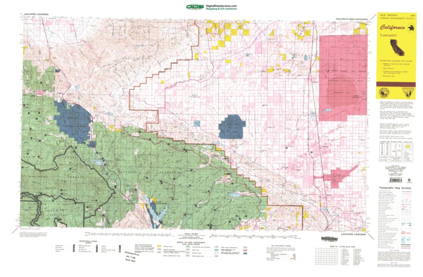 Lancaster, CA - BLM Surface Mgmt  - Digital Data Services