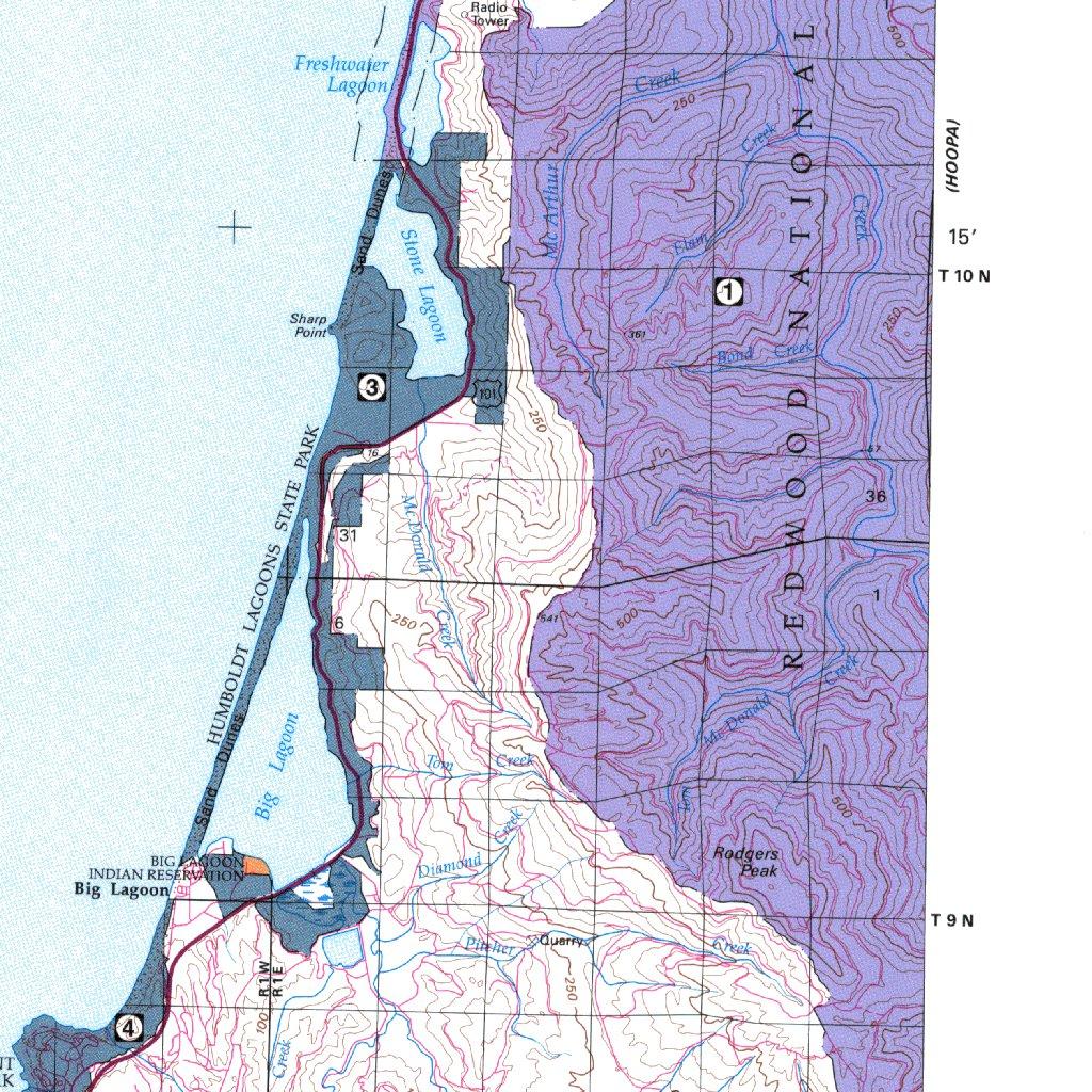 Orick California Map.Orick Ca Blm Surface Mgmt Digital Data Services Inc Avenza