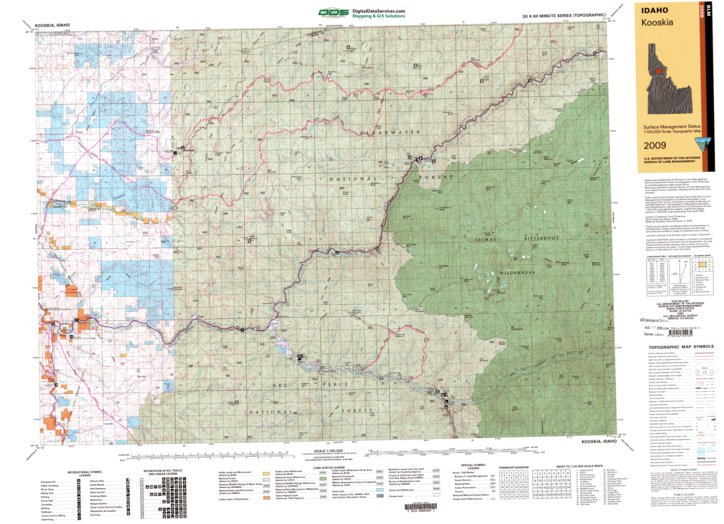 Kooskia Id Blm Surface Mgmt Digital Data Services Inc
