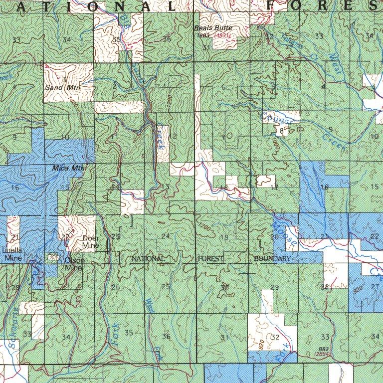 Potlatch Idaho Map.Potlatch Id Blm Surface Mgmt Digital Data Services Inc
