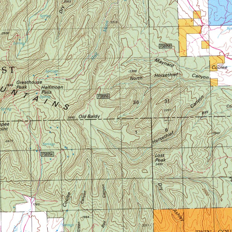 Big Snowy Mountains, MT - BLM Surface Mgmt. - Digital Data Services ...