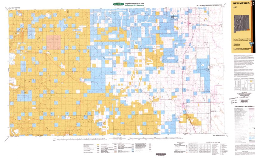 Jal New Mexico Map.Jal Nm Blm Surface Mgmt Digital Data Services Inc Avenza Maps
