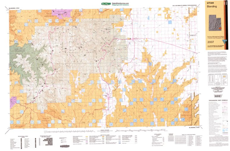 Blanding Ut Blm Surface Mgmt Digital Data Services Inc