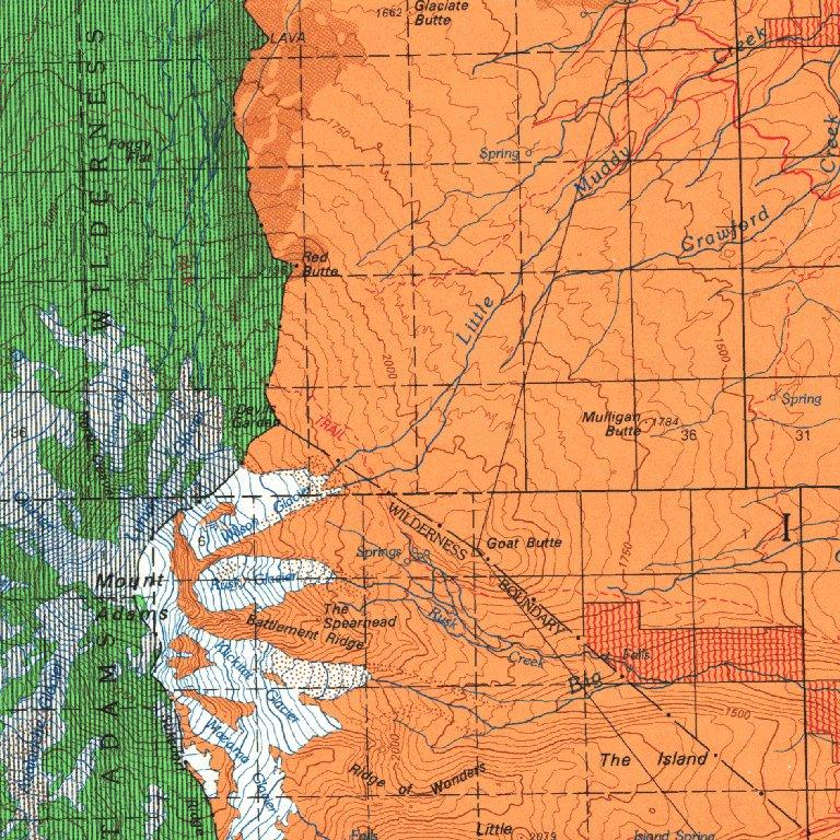 Mt Adams Washington Map.Mount Adams Wa Blm Minerals Mgmt Digital Data Services Inc
