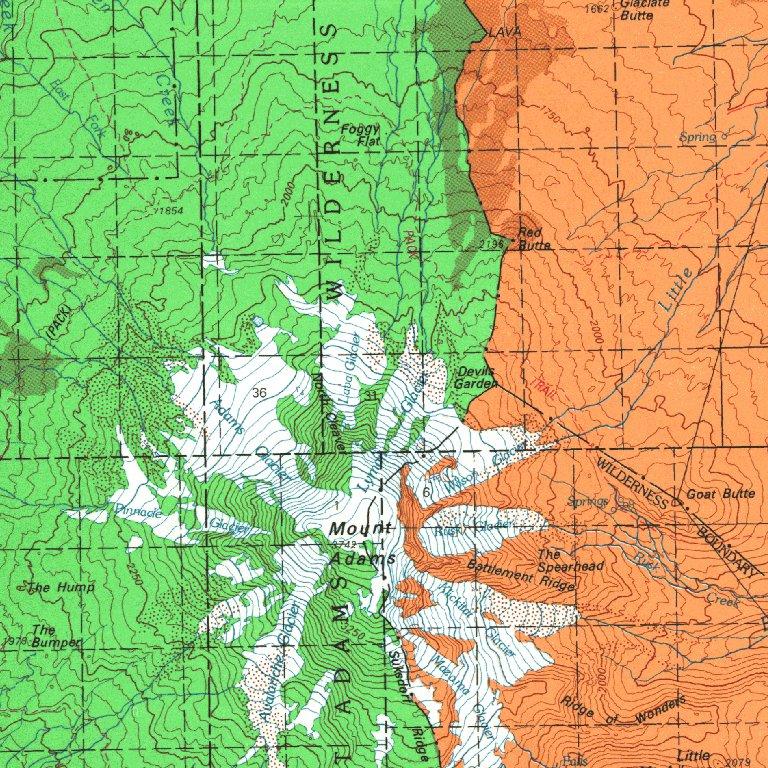 Mt Adams Washington Map.Mount Adams Wa Blm Surface Mgmt Digital Data Services Inc