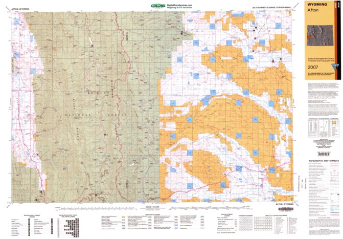 Afton Wy Blm Surface Mgmt Digital Data Services Inc Avenza