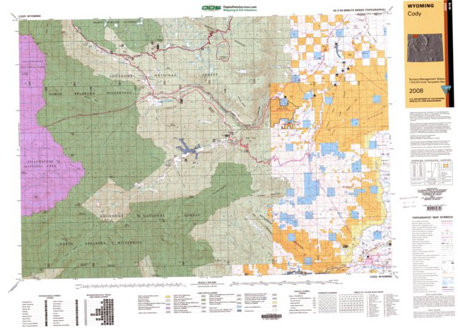 Cody Wy Blm Surface Mgmt Digital Data Services Inc Avenza Maps