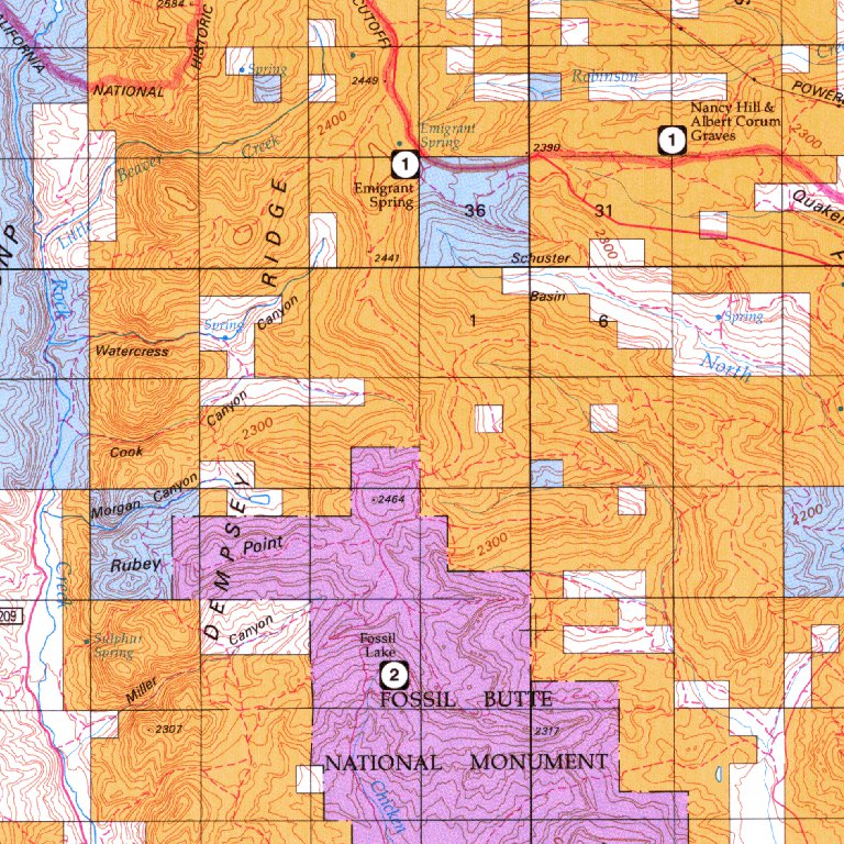 Kemmerer Wyoming Map.Kemmerer Wy Blm Surface Mgmt Digital Data Services Inc