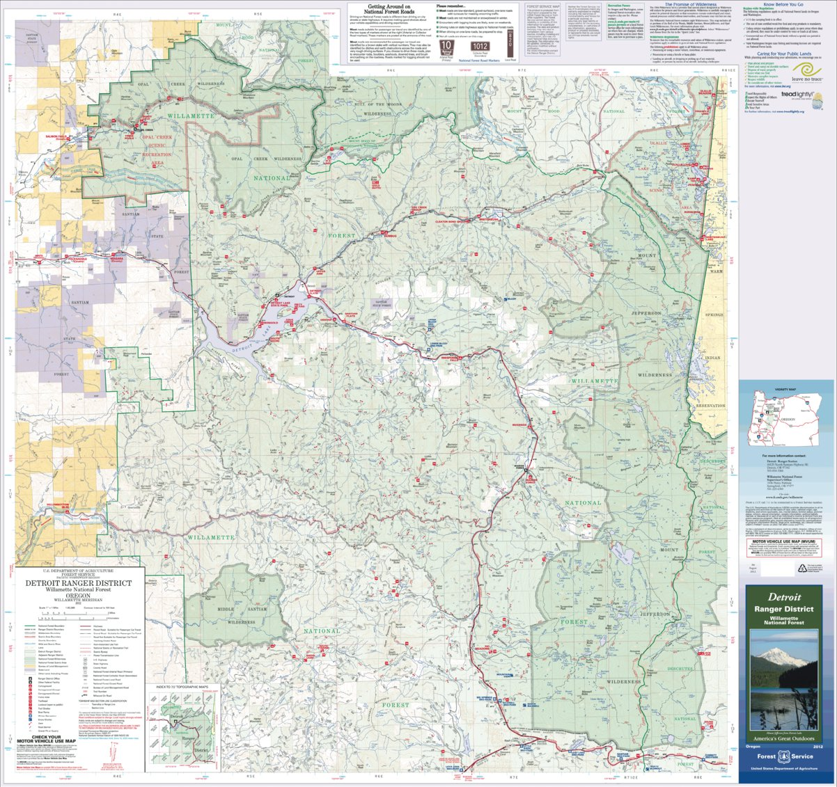 Detroit Ranger District Map - US Forest Service R6 - Avenza Maps on